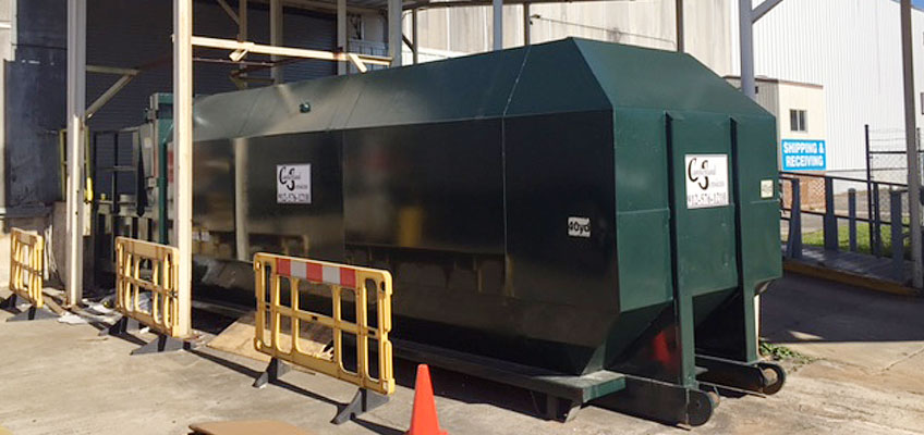 Cumberland Services Compactor Container On Site