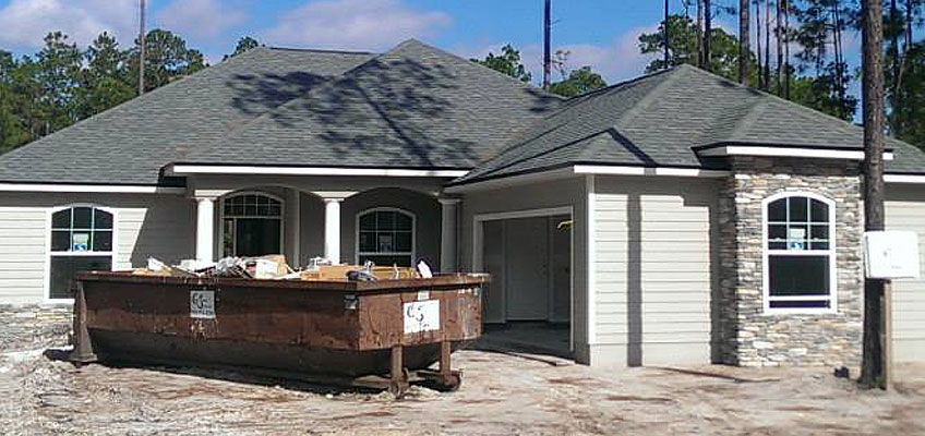 Cumberland Services roll-off containers for residential construction