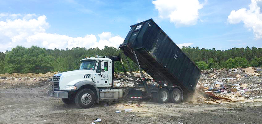 CS Roll-off debris disposal at landfill