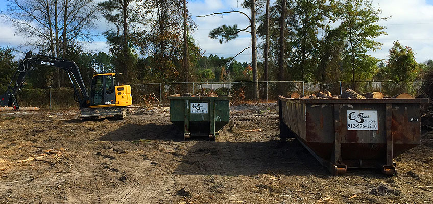 Cumberland Landclearing and cleanup with roll-off containers