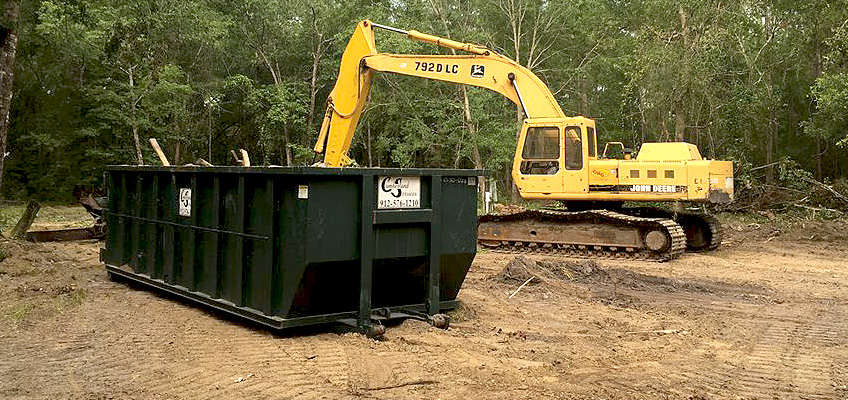 Cumberland Services can easily combine customized land clearing and roll-off services