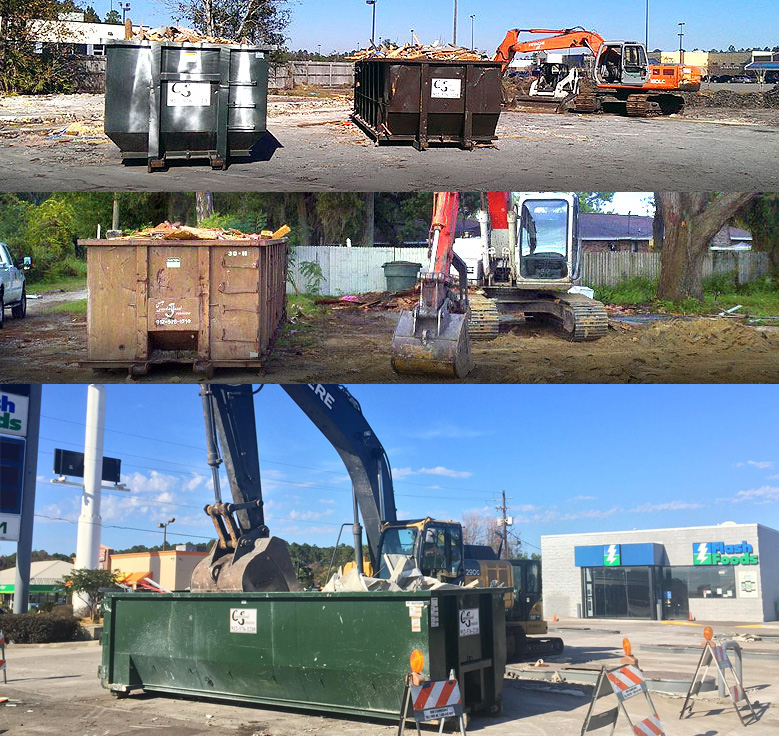 Three commercial demolition projects by Cumberland Services LLC.