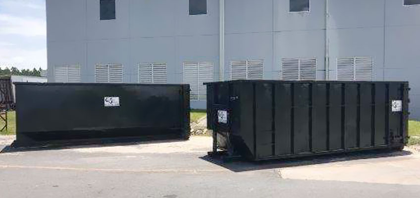 Cumberland Services Roll-off Containers on-site